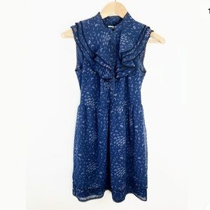 Kimchi Blue Urban Outfitter Ruffle Dress Blue